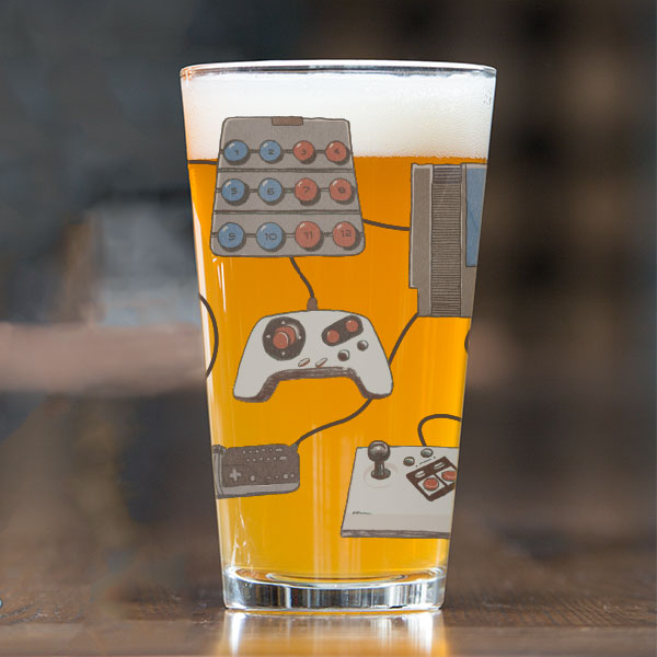 8-Bit Relics Pint Glass