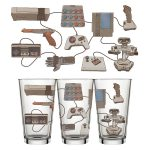 8-Bit Relics Pint Glass