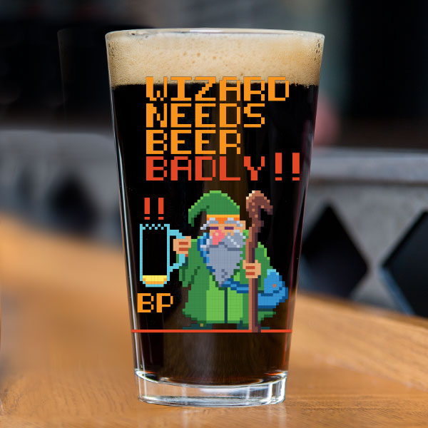 Wizard's Beerd Pint Glass