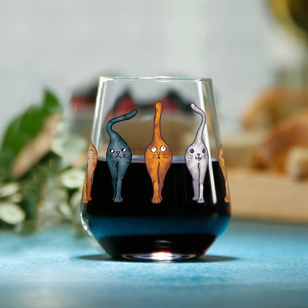 Catsholes Stemless Wine Glass